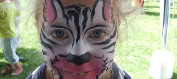 Malování na obličej zebra